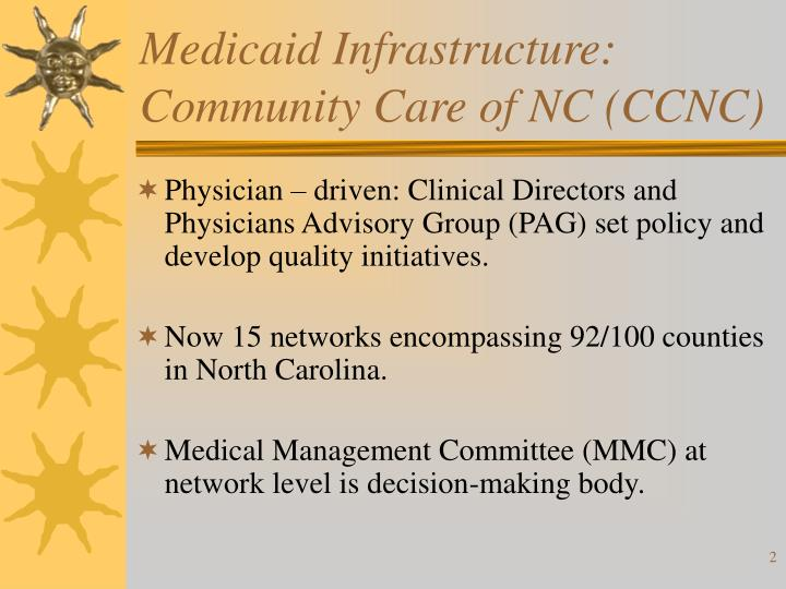 Medicaid infrastructure community care of nc ccnc