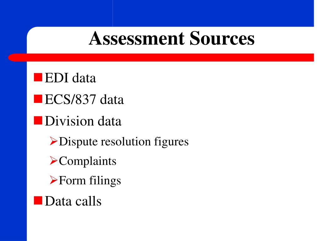 Assessment Sources