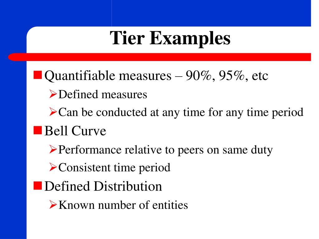 Tier Examples