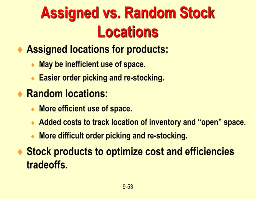 Assigned vs. Random Stock Locations