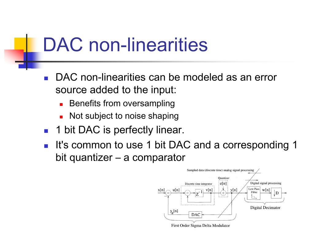 DAC non-linearities