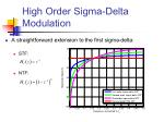 high order sigma delta modulation