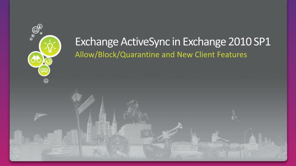 Exchange ActiveSync in Exchange 2010 SP1