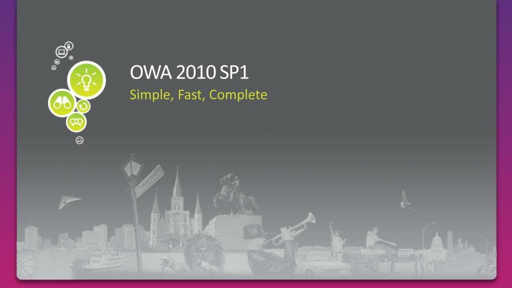 OWA 2010 SP1