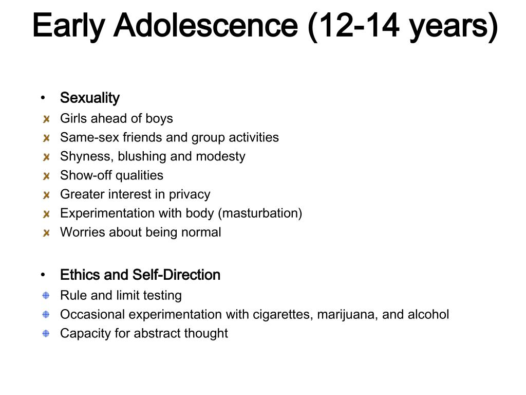 Early Adolescence (12-14 years)