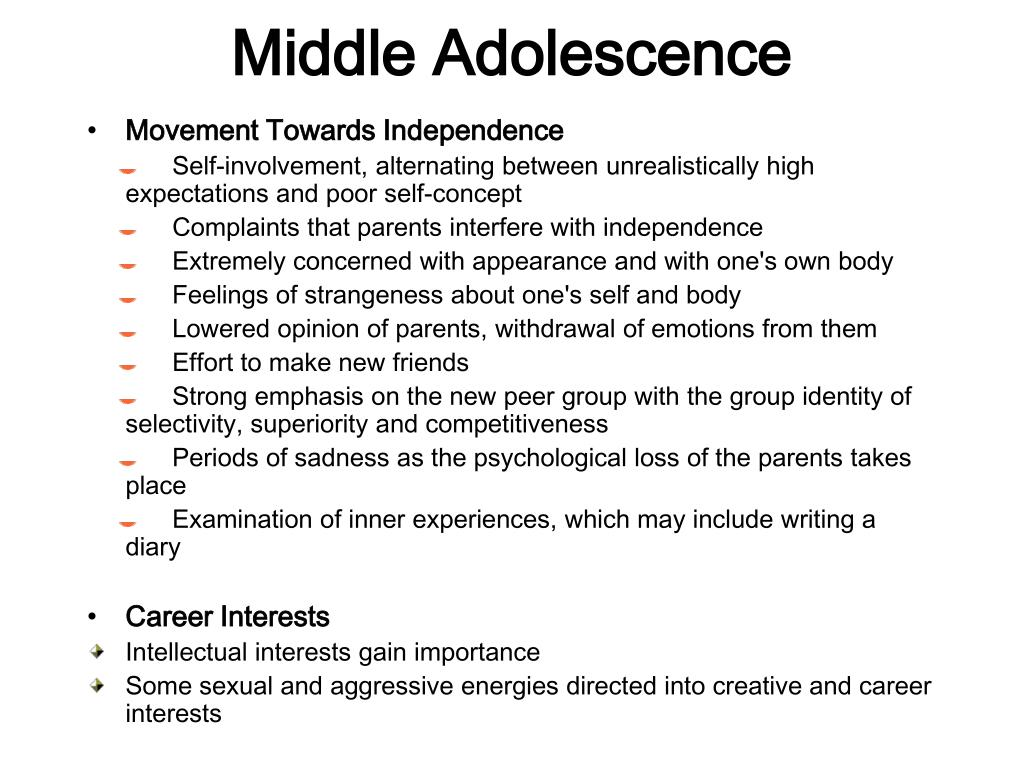 Middle Adolescence