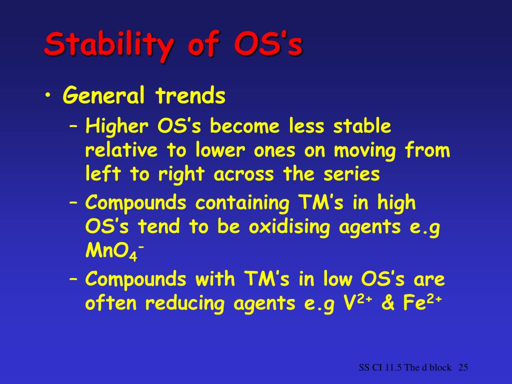 Stability of OS's