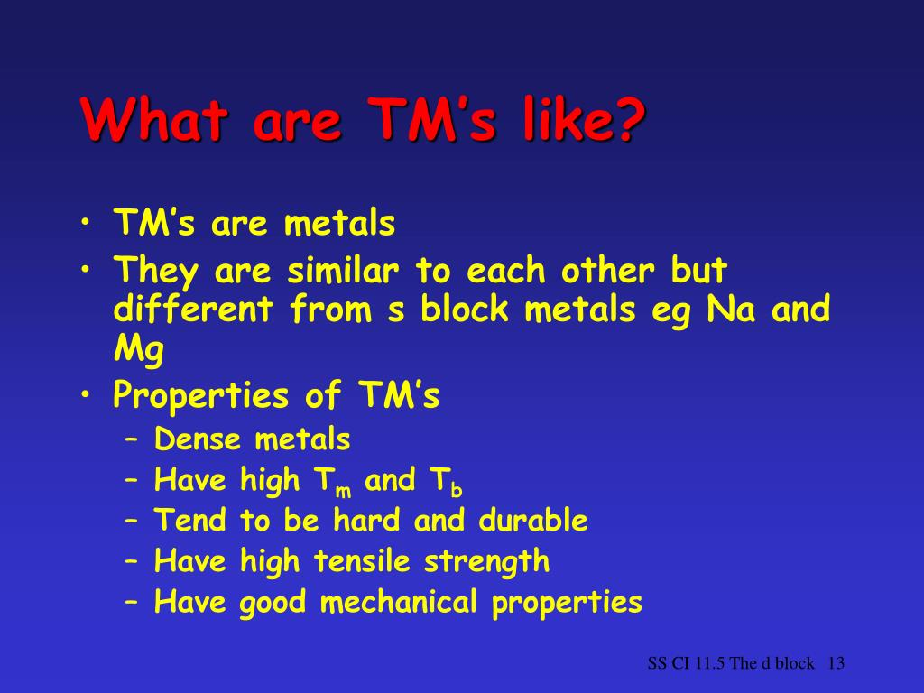 What are TM's like?
