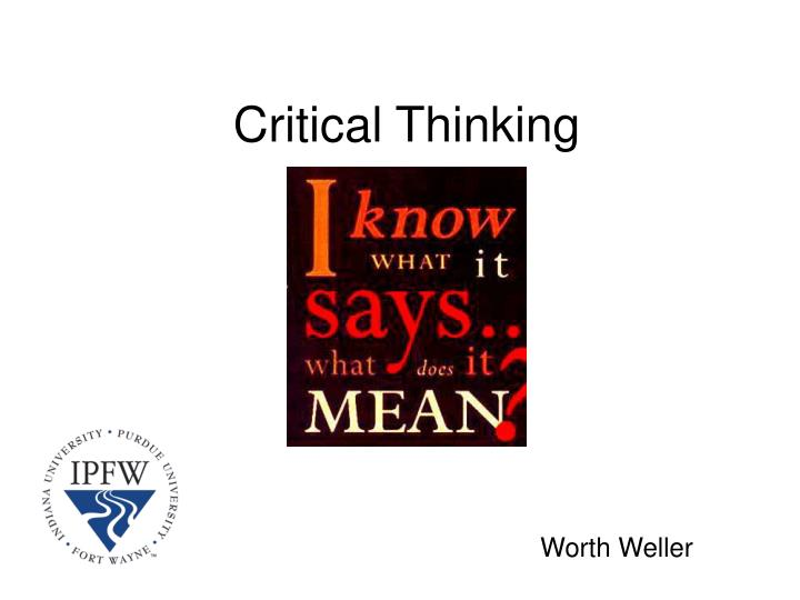 critical thinking steps in psychology