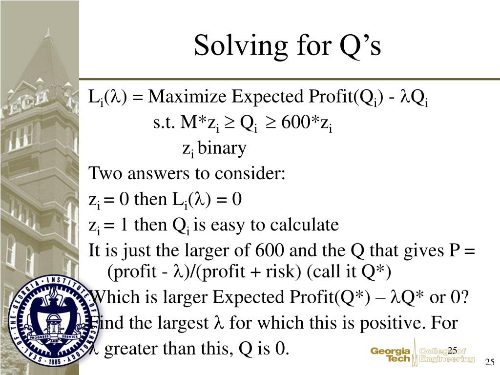 Solving for Q's