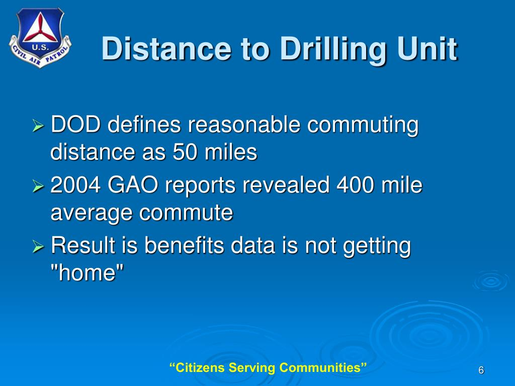 Distance to Drilling Unit
