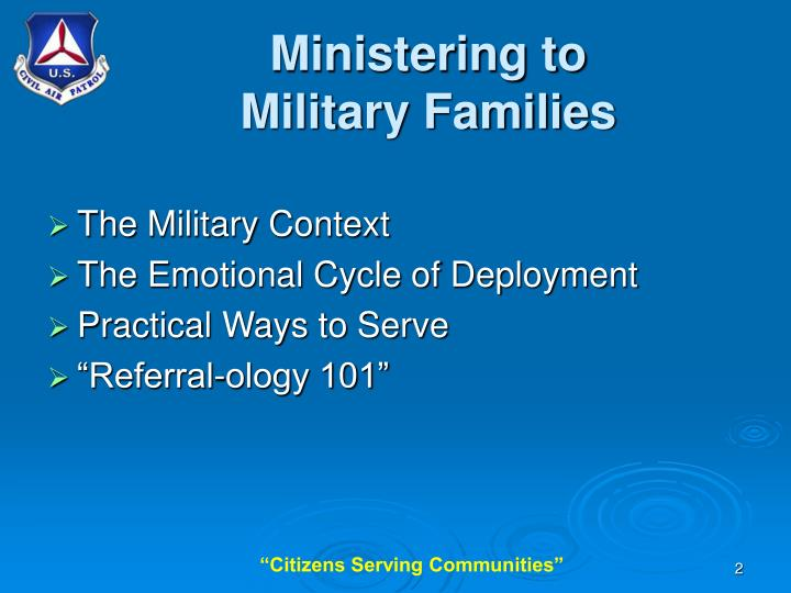 Ministering to military families