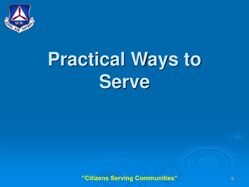 Practical Ways to Serve