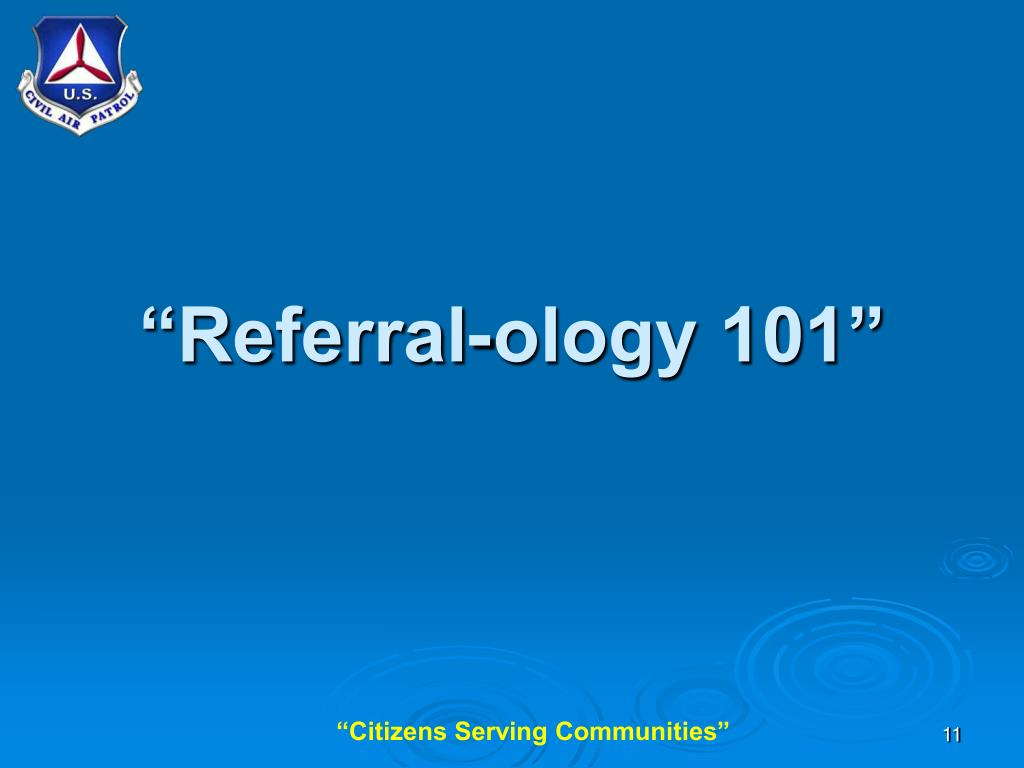 """Referral-ology 101"""