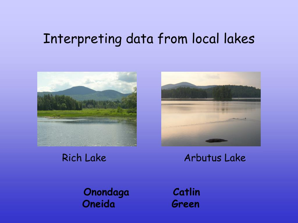 Interpreting data from local lakes