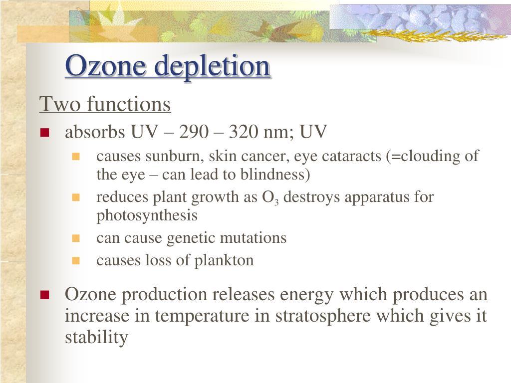 ozone exhaustion presentation