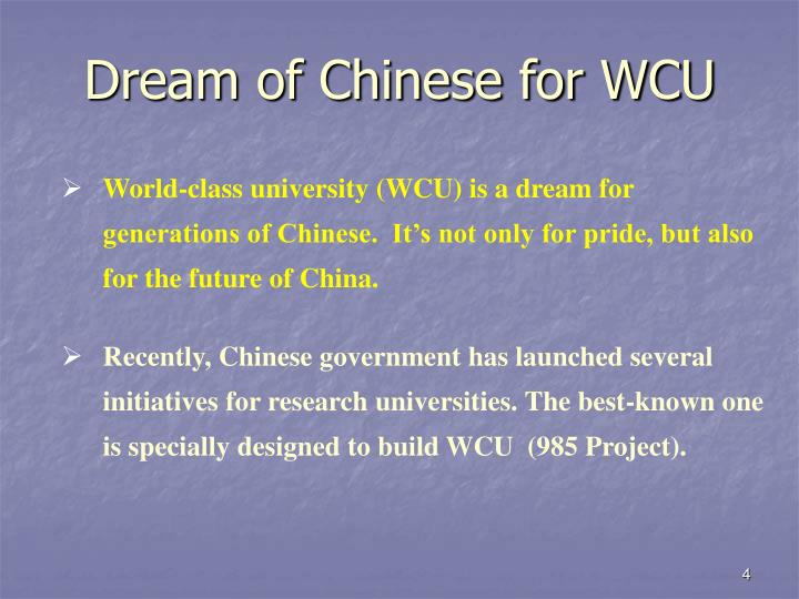 Dream of Chinese for WCU