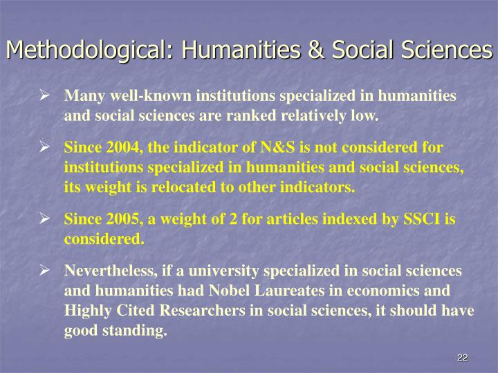 Methodological: Humanities & Social Sciences