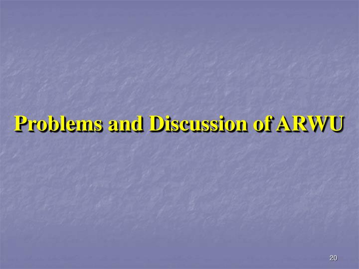 Problems and Discussion of ARWU