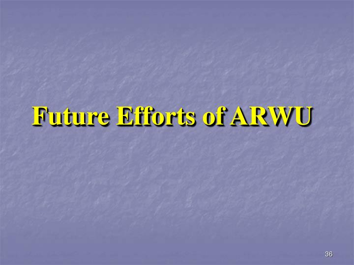 Future Efforts of ARWU