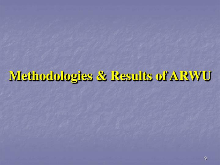 Methodologies & Results of ARWU