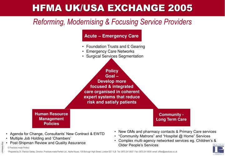 HFMA UK/USA EXCHANGE 2005