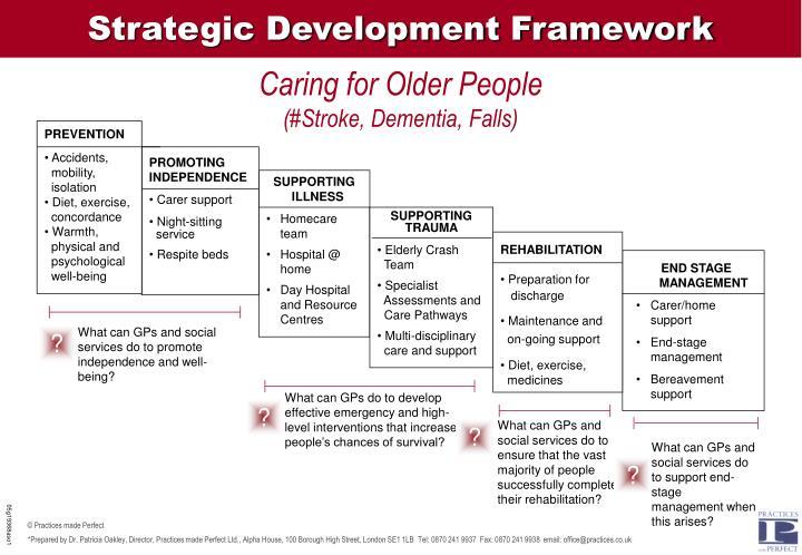 Strategic Development Framework