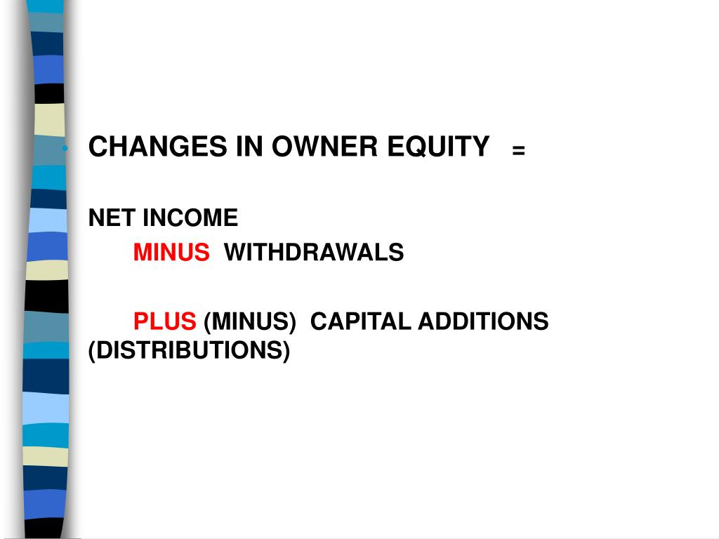 CHANGES IN OWNER EQUITY
