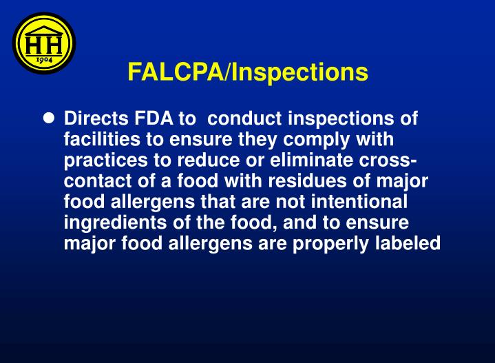 FALCPA/Inspections