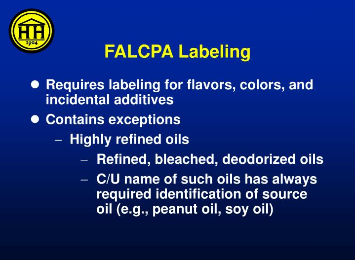 FALCPA Labeling