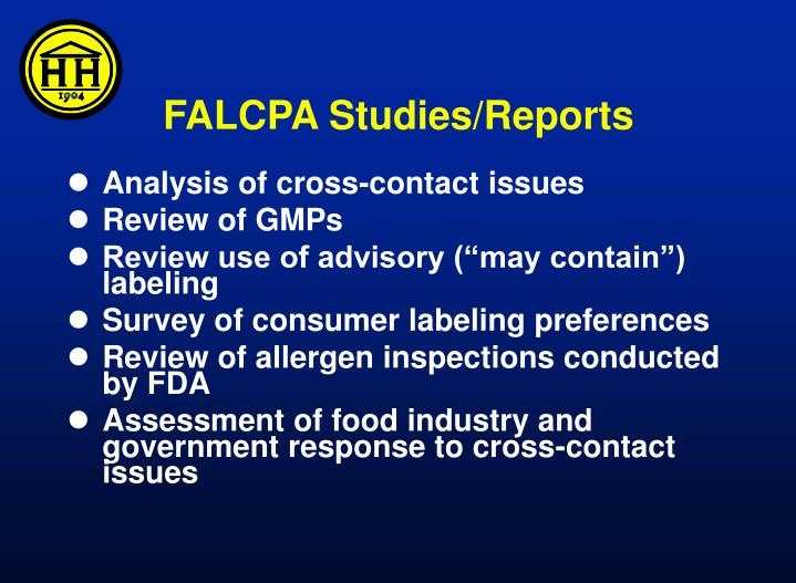 FALCPA Studies/Reports