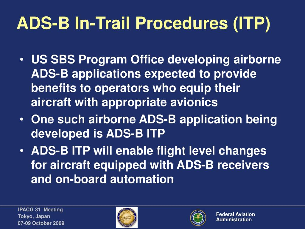 ADS-B In-Trail Procedures (ITP)