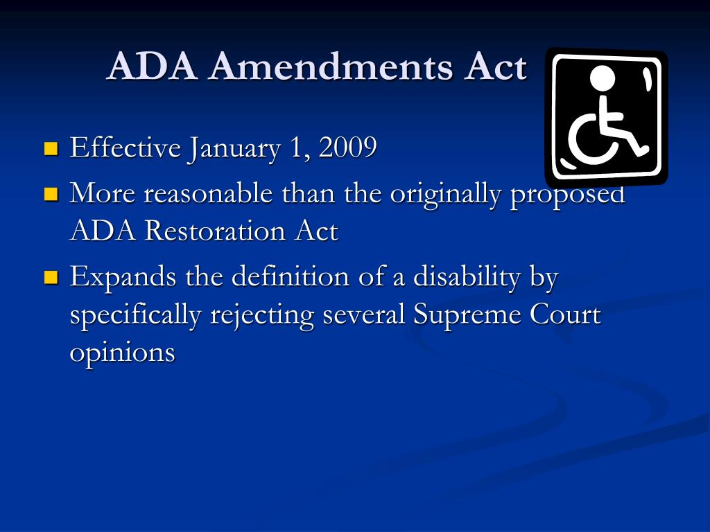 ADA Amendments Act