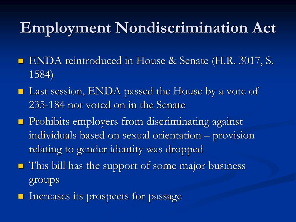 Employment Nondiscrimination Act