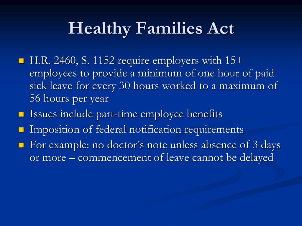 Healthy Families Act