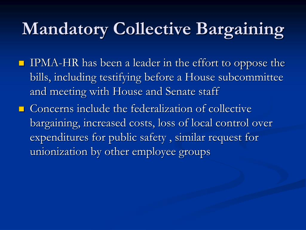 Mandatory Collective Bargaining
