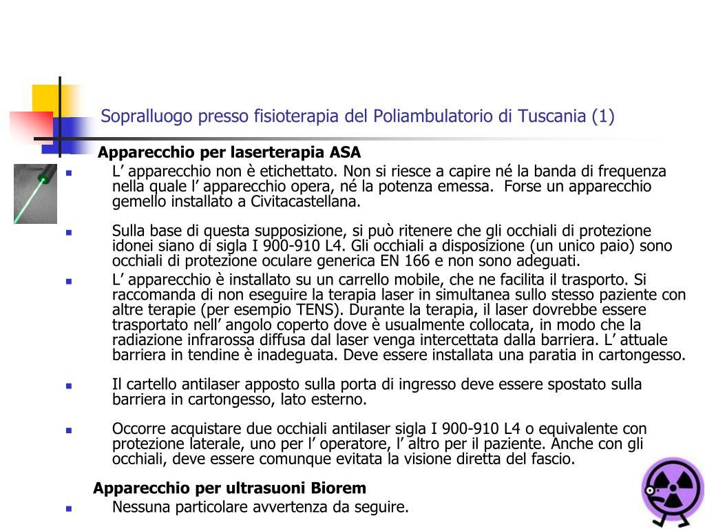 Sopralluogo presso fisioterapia del Poliambulatorio di Tuscania (1)