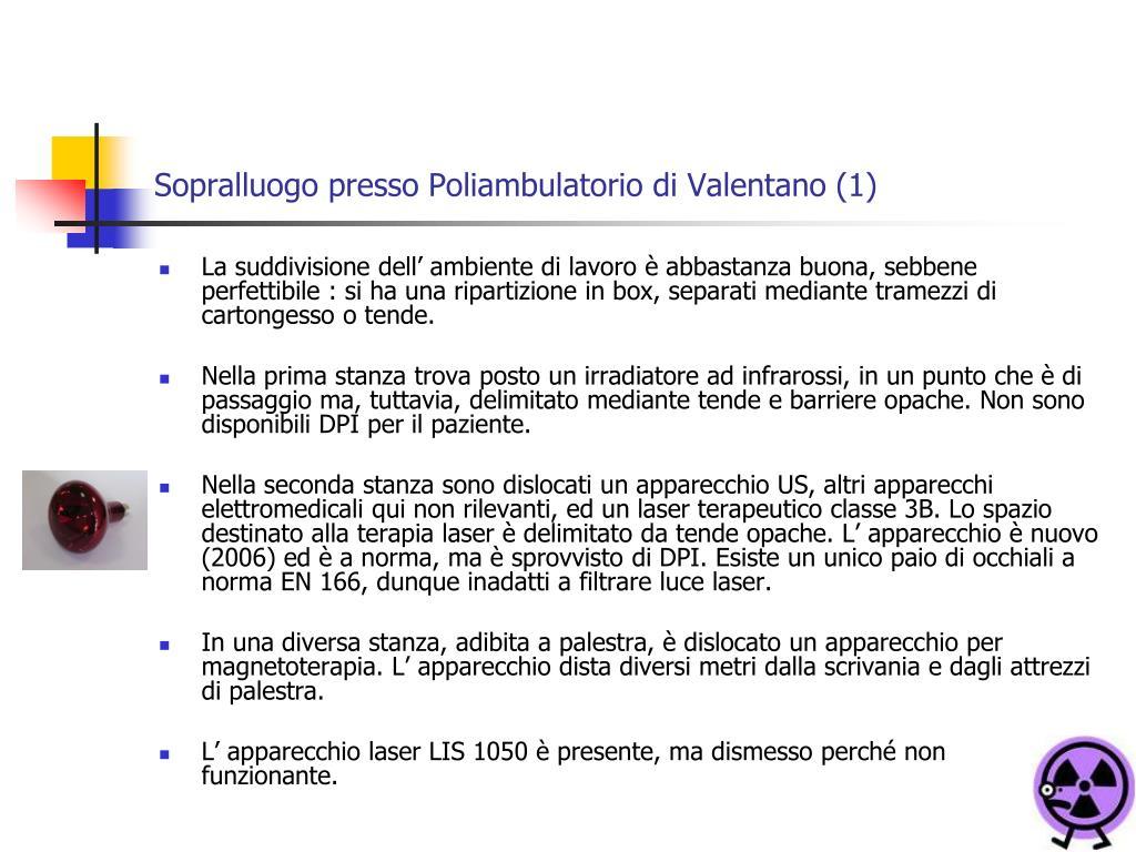 Sopralluogo presso Poliambulatorio di Valentano (1)