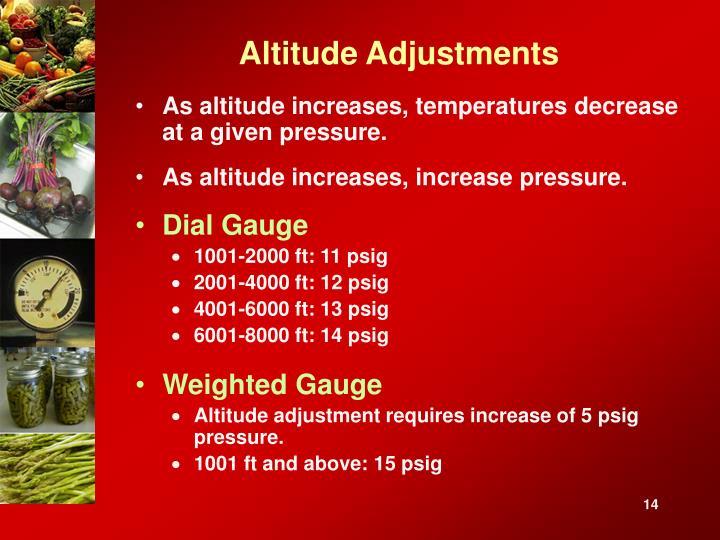 Altitude Adjustments