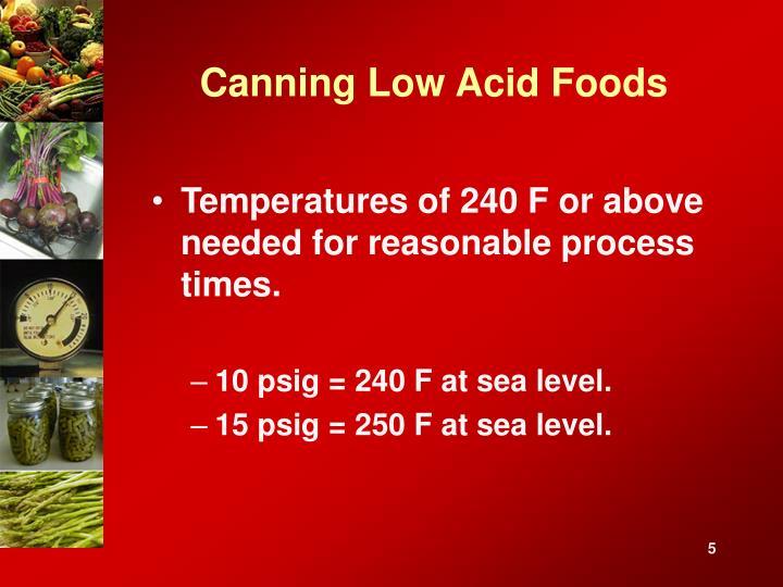 Canning Low Acid Foods