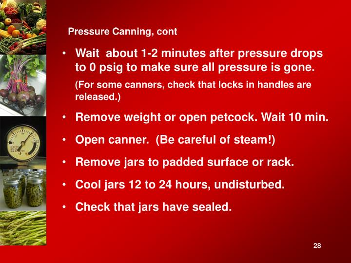 Pressure Canning, cont
