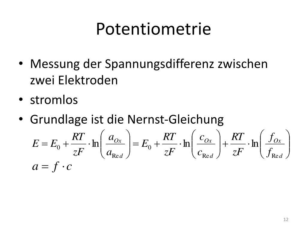 Potentiometrie