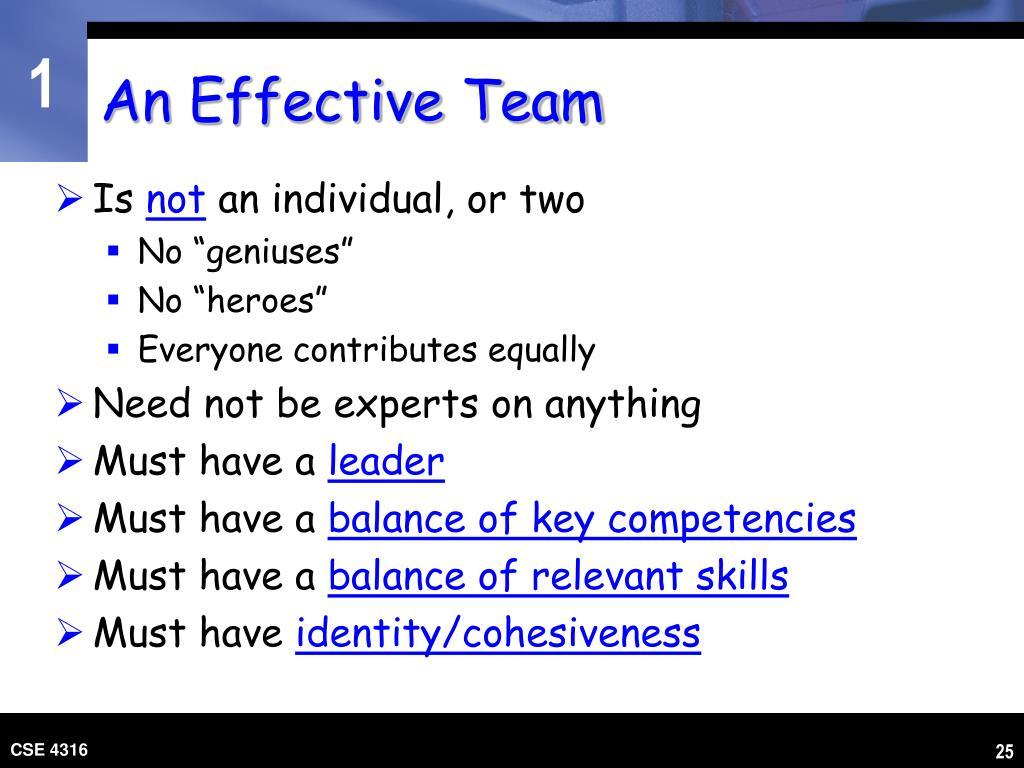 An Effective Team