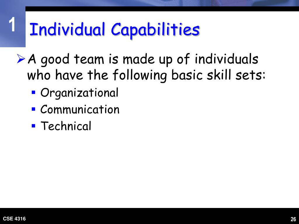 Individual Capabilities