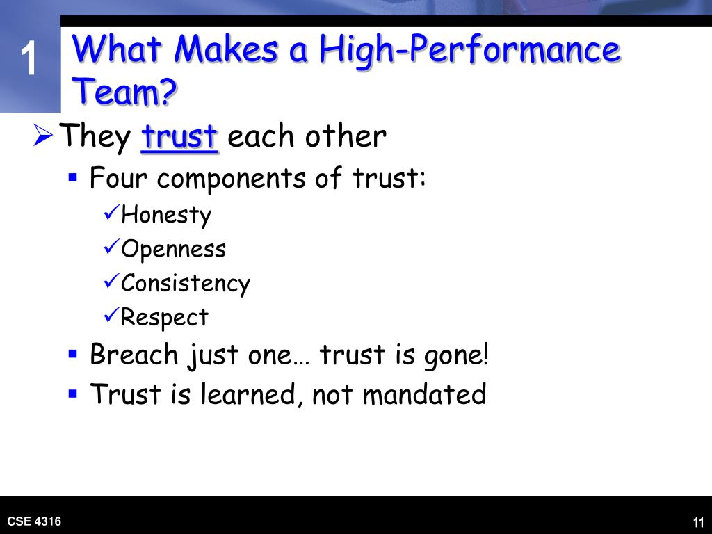 What Makes a High-Performance Team?