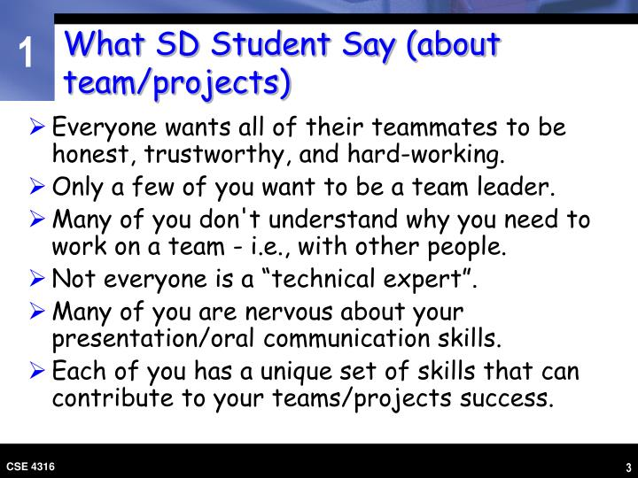 What sd student say about team projects l.jpg