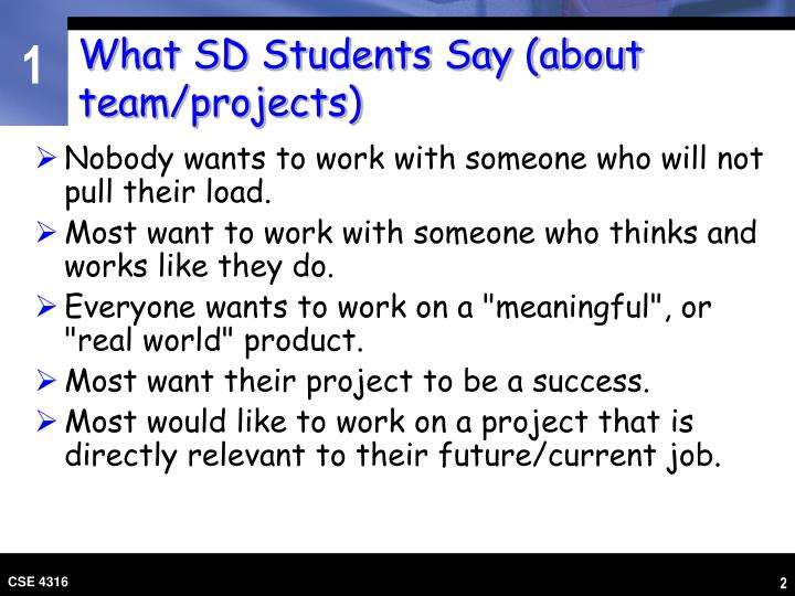 What sd students say about team projects l.jpg