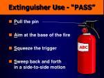 extinguisher use pass