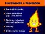 fuel hazards prevention