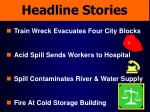 headline stories